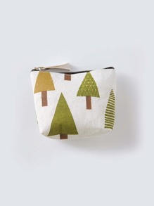 Tree Print Coin Purse