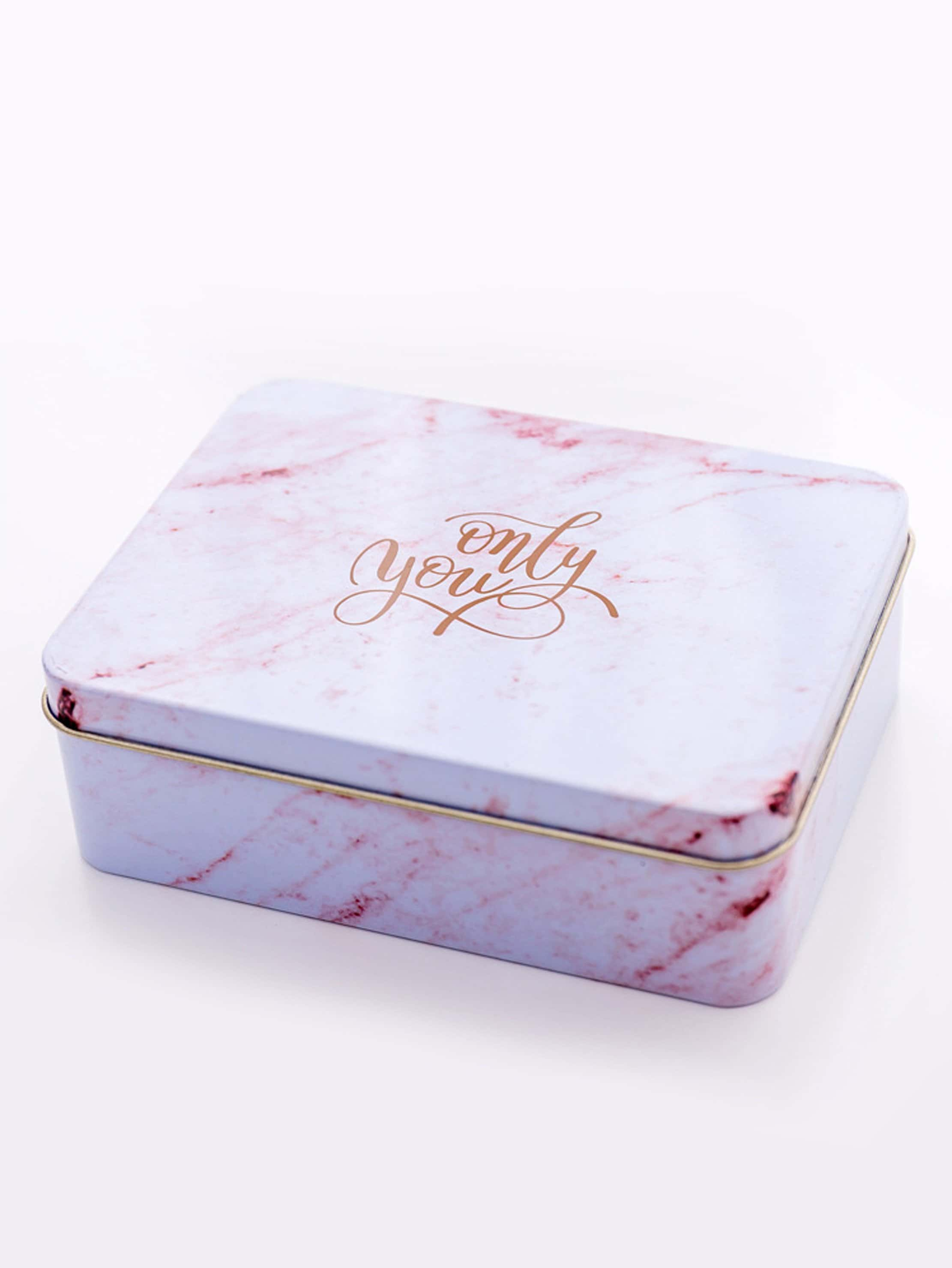 Marble Pattern Tin Box dog print tin box