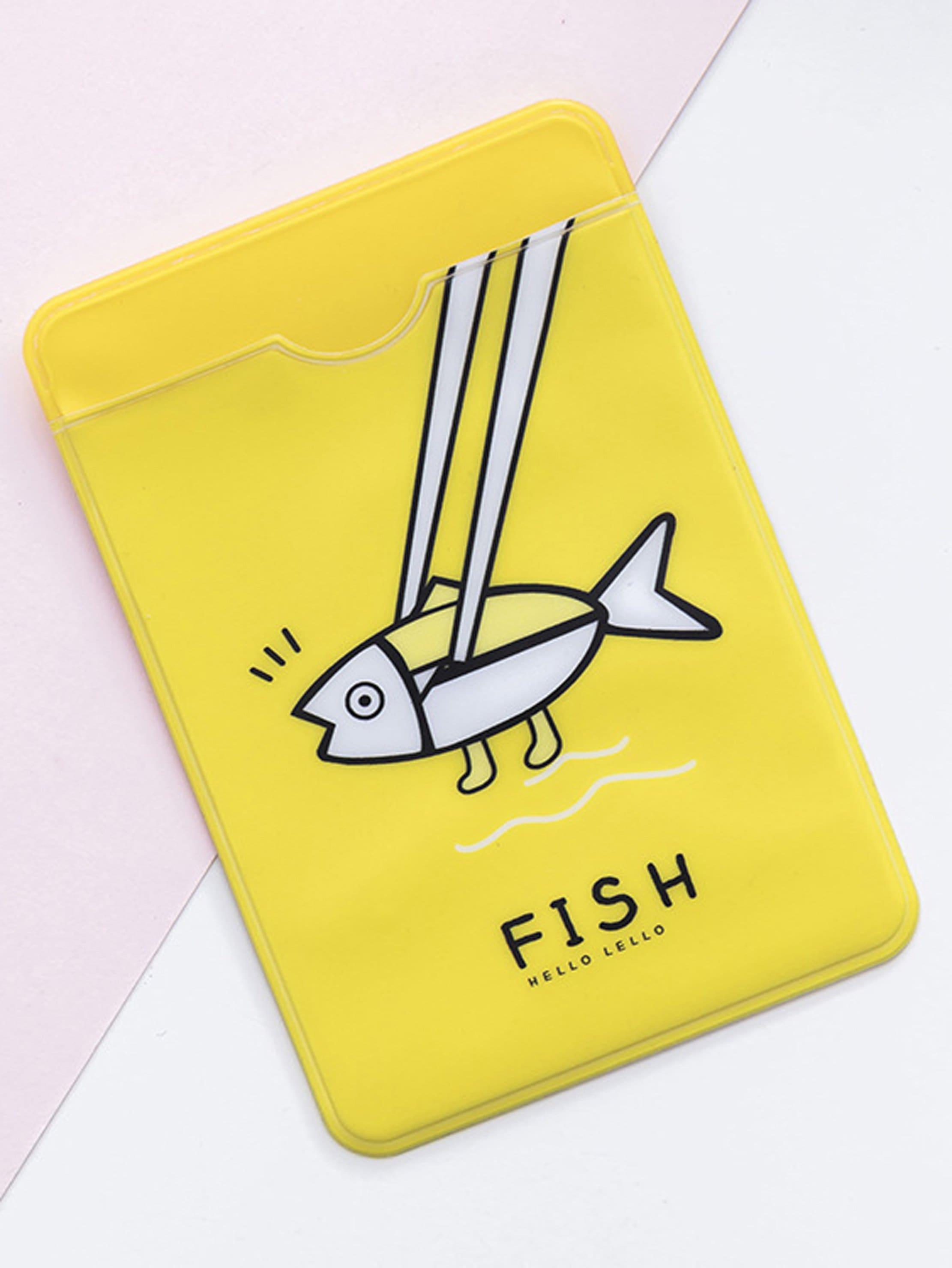 Fish Print Card Sleeve