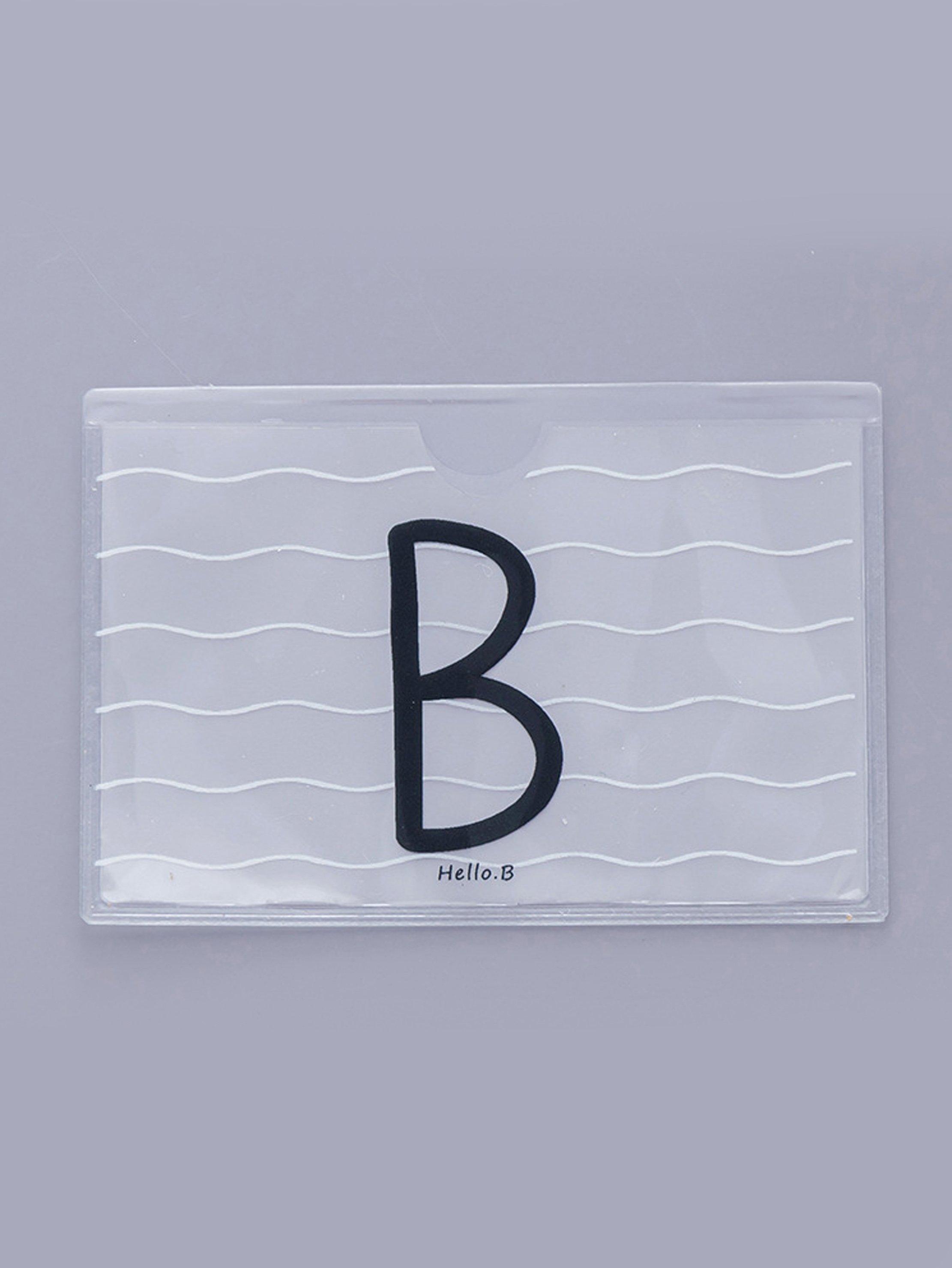Letter Print Card Sleeve