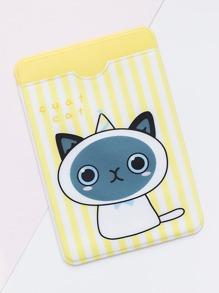 Cat Print Card Sleeve