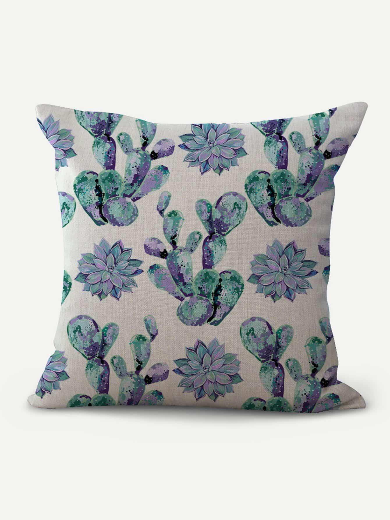 Cactus Print Cushion Cover cartoon animal print cushion cover