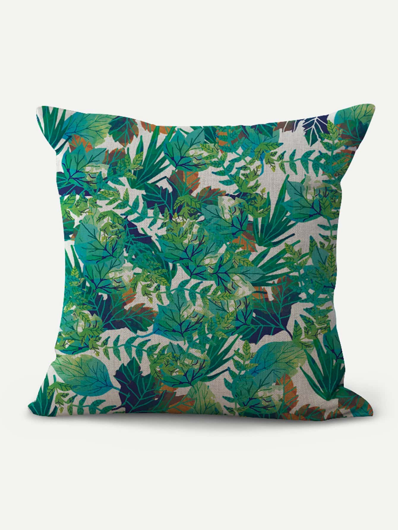 Jungle Leaves Print Cushion Cover jungle print cover notebook