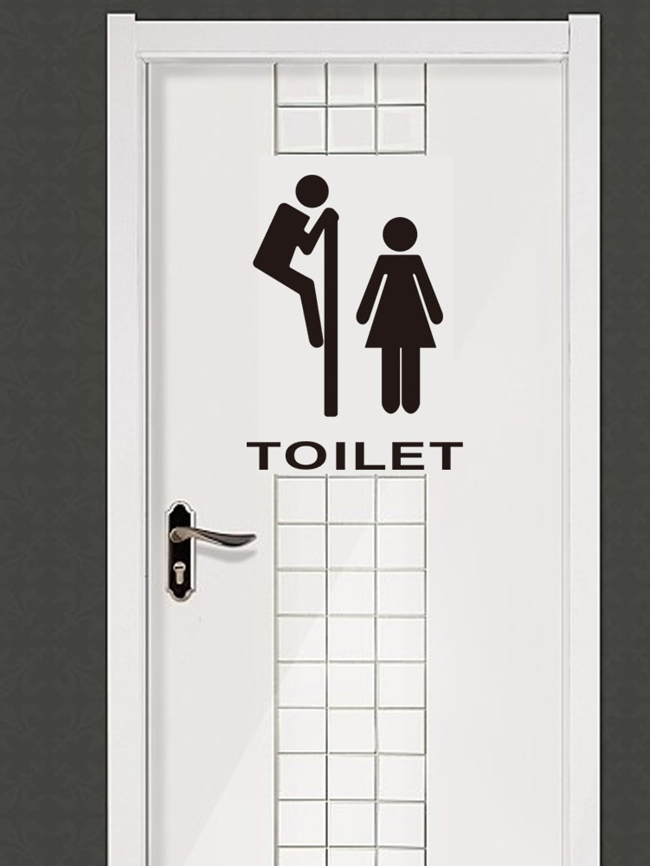 Toilet Sign Wall Sticker new original laptop base lcd palmrest touchpad pour for acer aspire es1 es1 512 series black top cover c shell