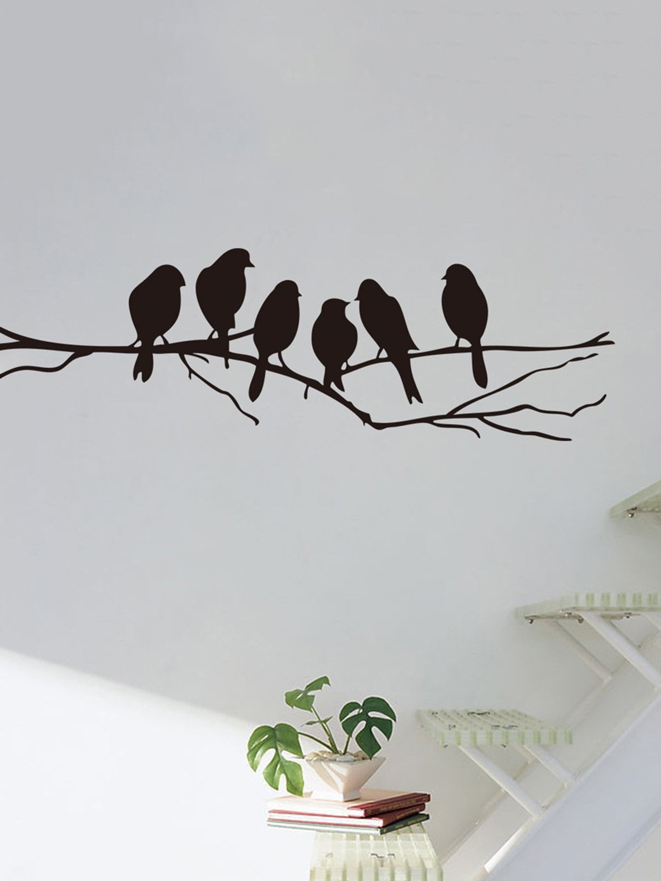 Bird & Tree Branch Wall Sticker sweet branch bird pattern removeable toilet wall sticker