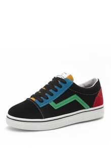Color Block Lace Up Sneakers