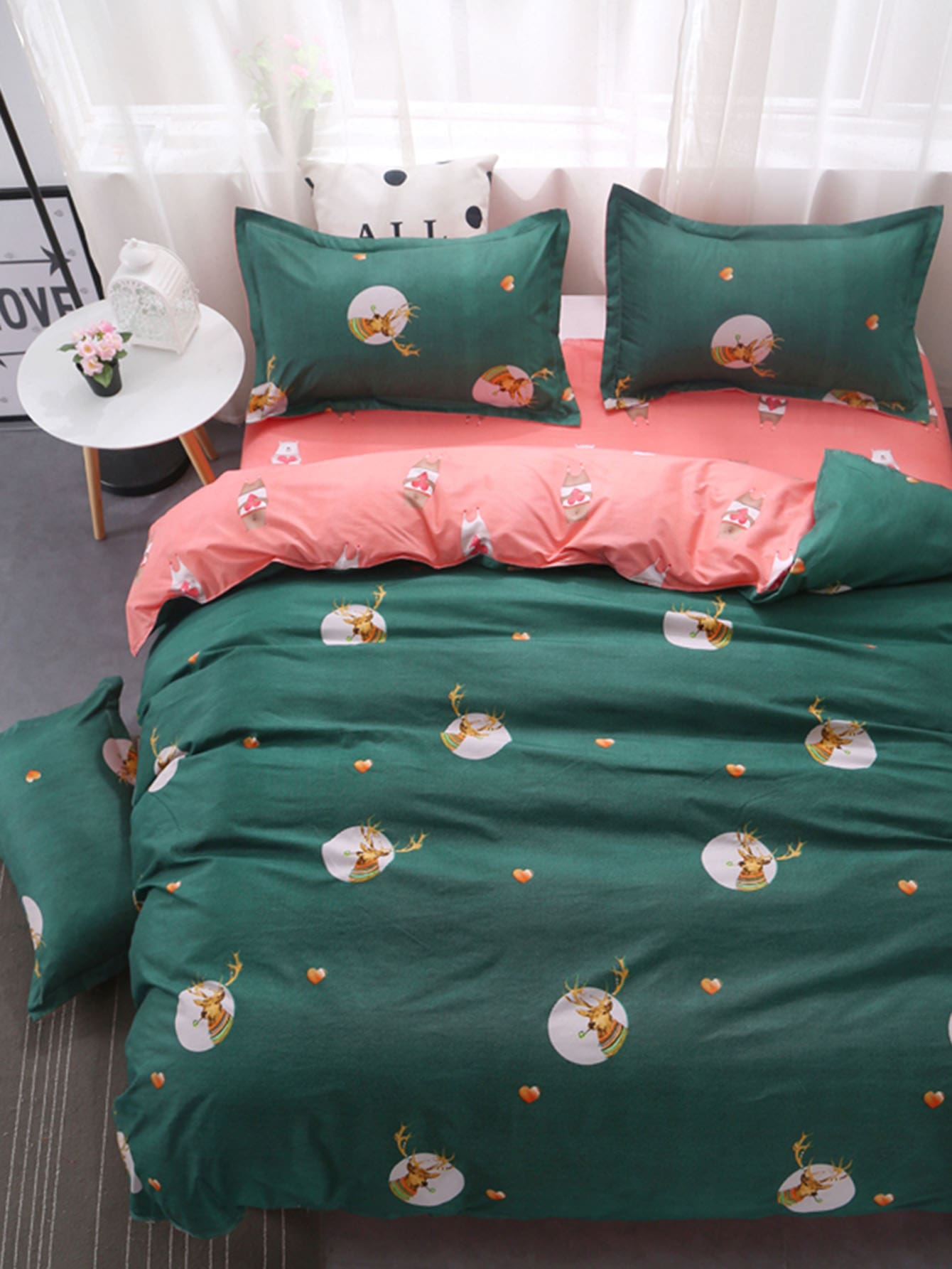 Allover Deer Print Sheet Set allover star print sheet set
