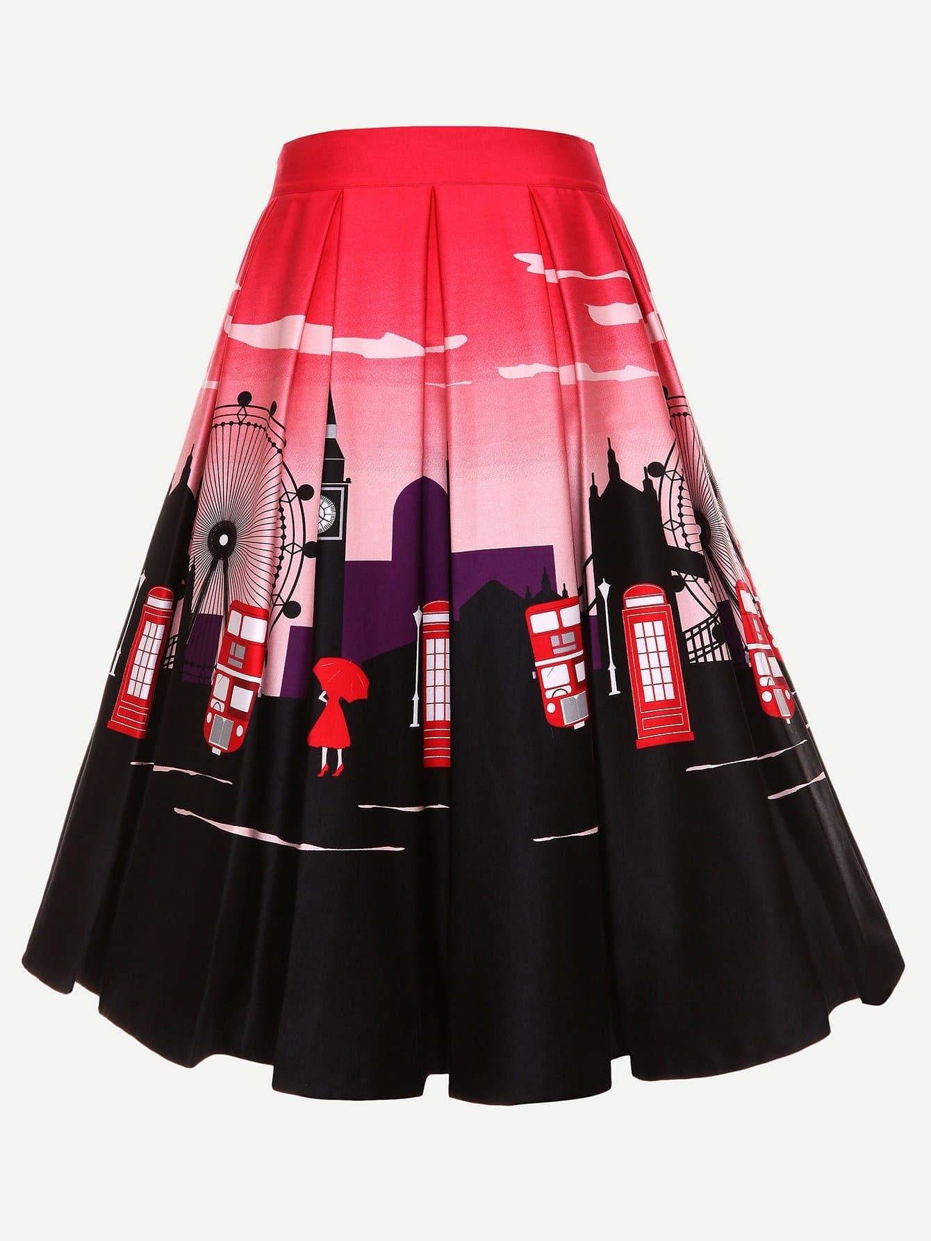 Купить Круглая юбка, null, SheIn