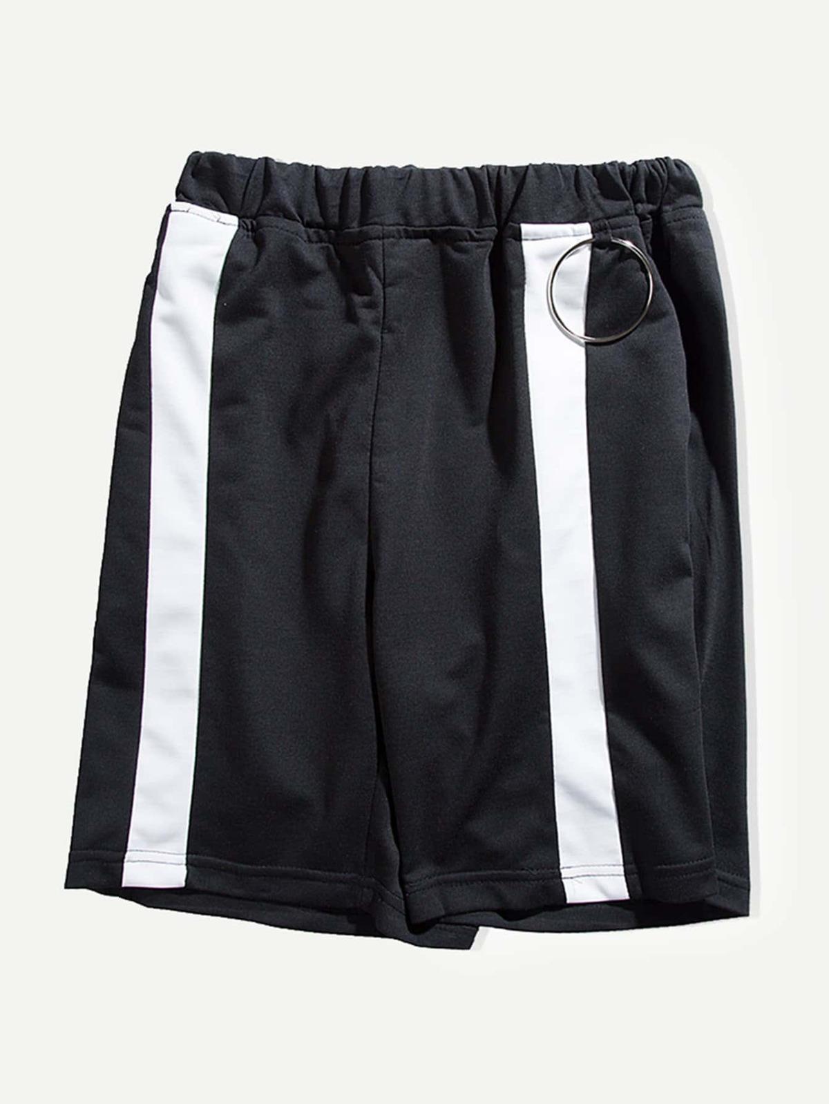 男人 條紋 裝飾 短褲