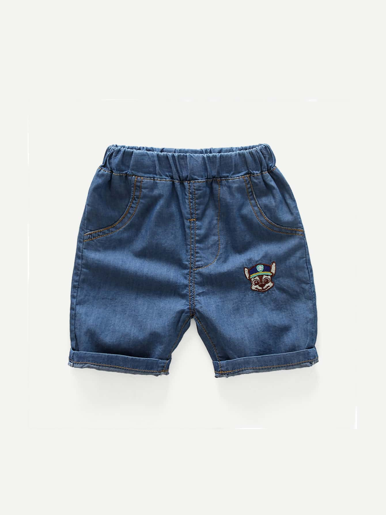 Boys Roll Hem Denim Shorts цена 2017