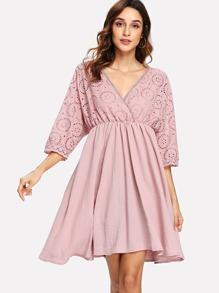 Open Back V Neckline Dress