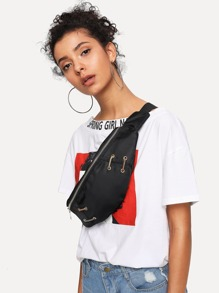 Zipper Design Bum Bag