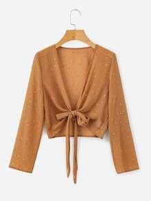 Knot Front Crop Kimono