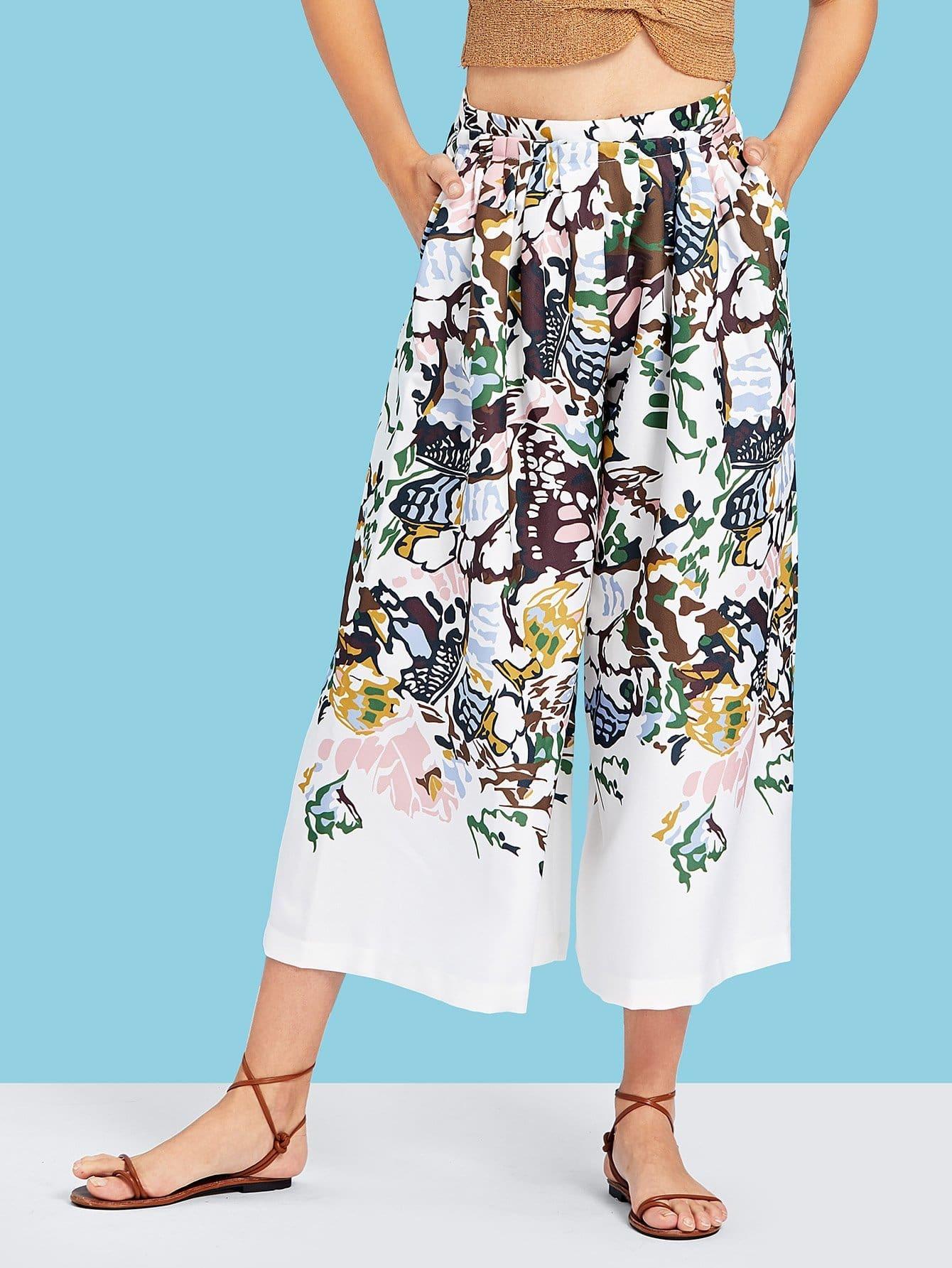 Florals Culotte Pants spot culotte pants