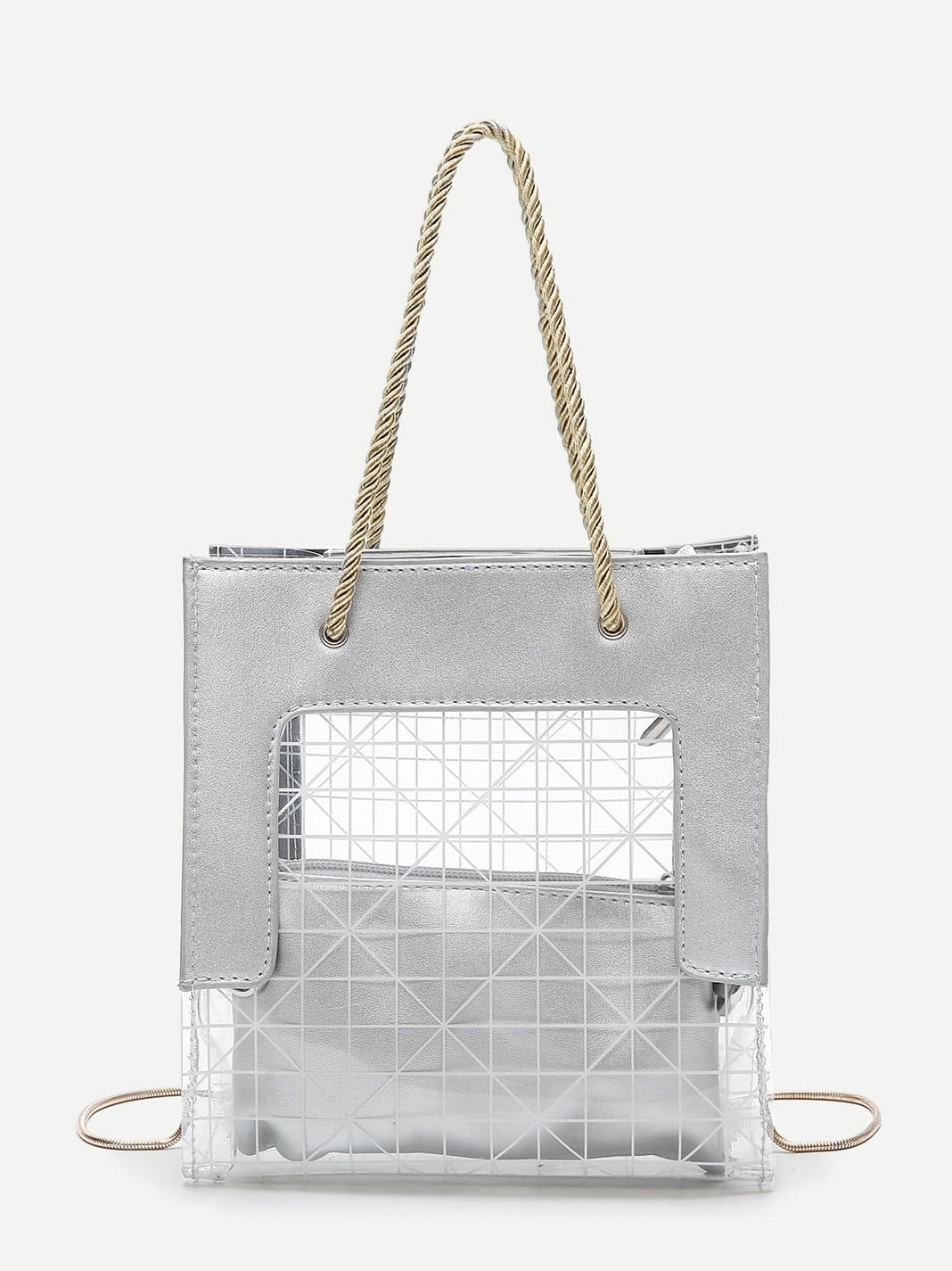 Clear Tote Bag With Clutch clear tote bag with clutch