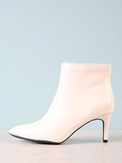 Pointy Toe Crinkled Bootie