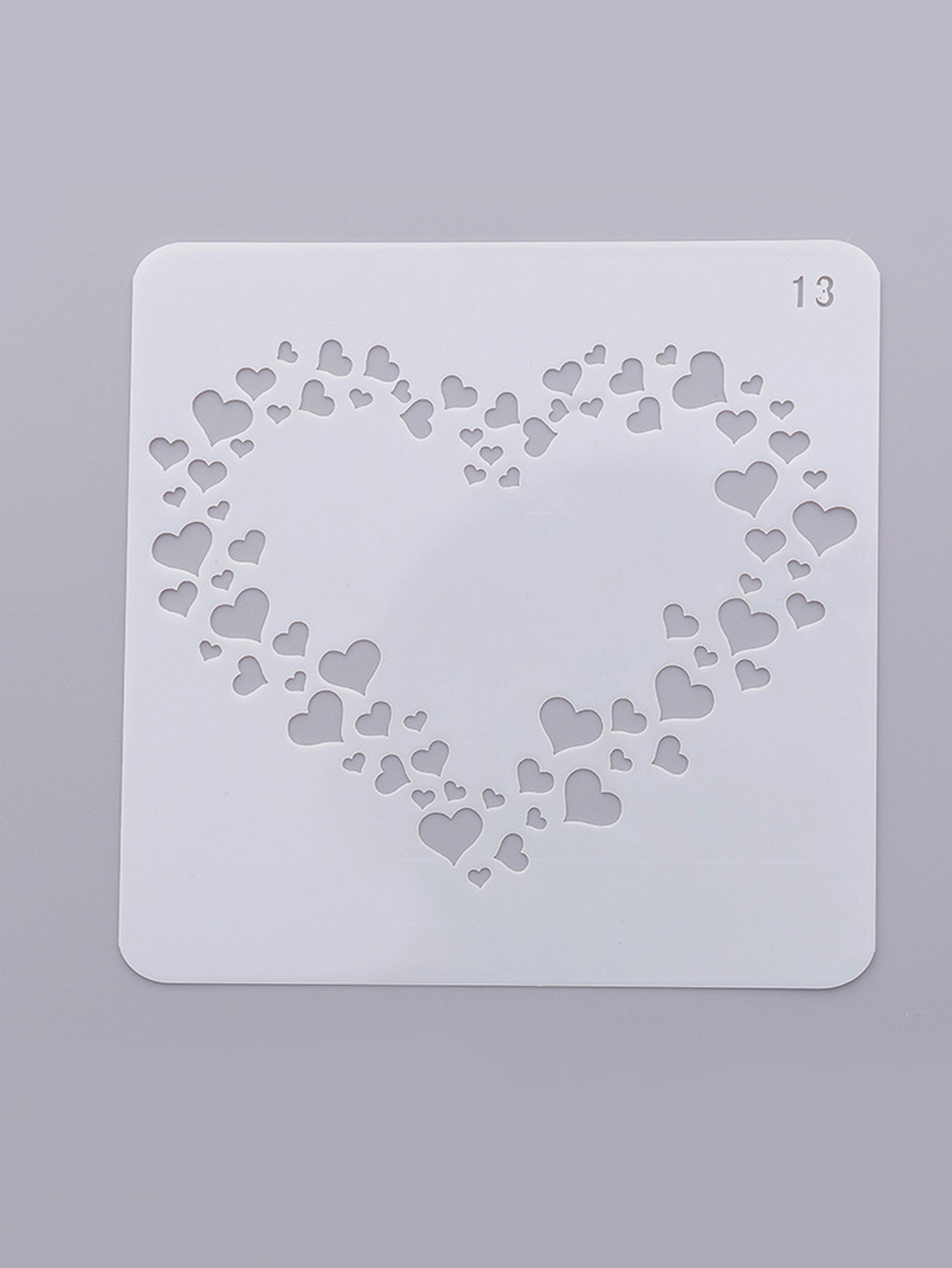 Купить Трафарет для рисования сердца, null, SheIn