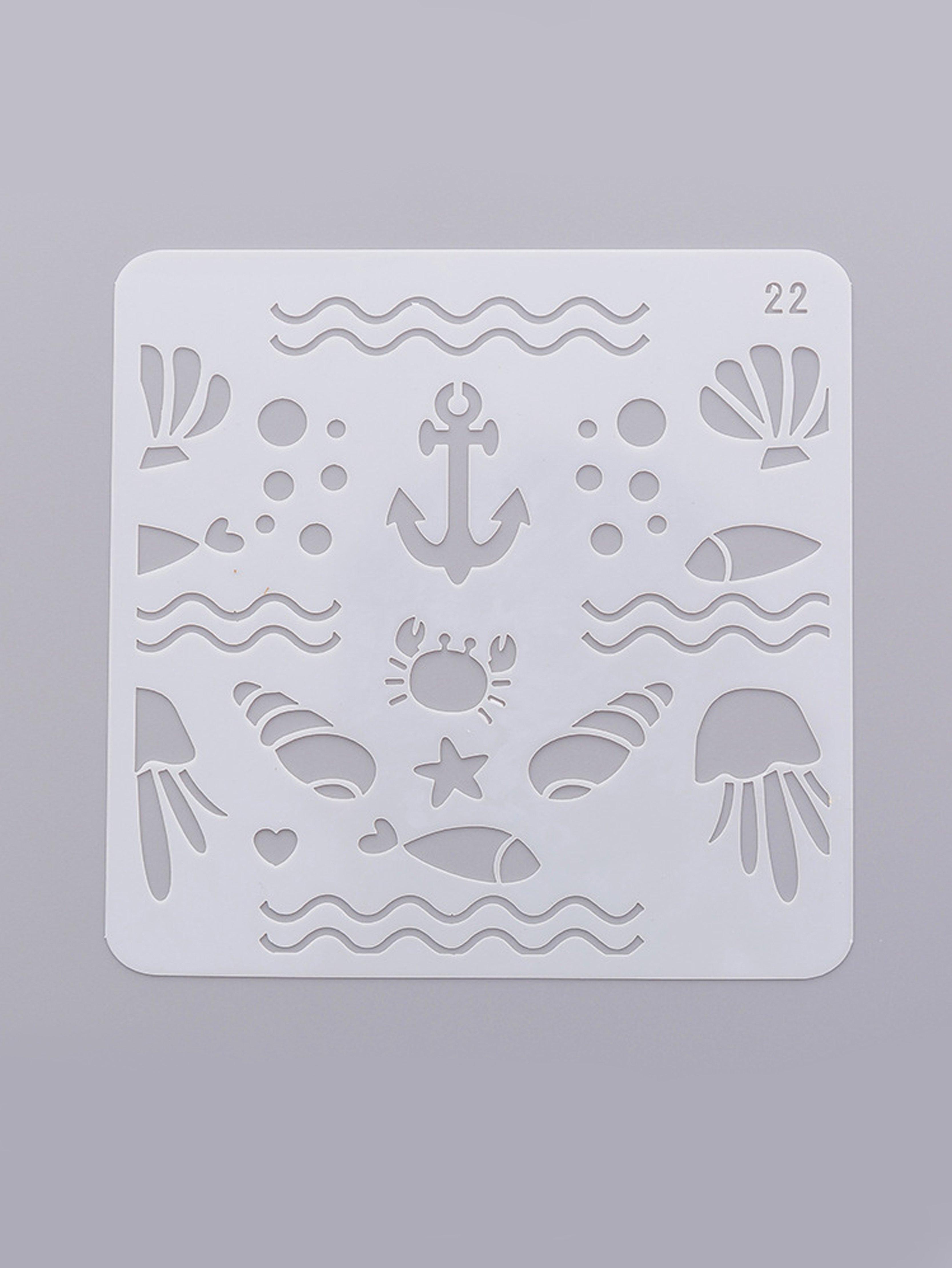 Купить Трафарет для рисования морской рыбы, null, SheIn