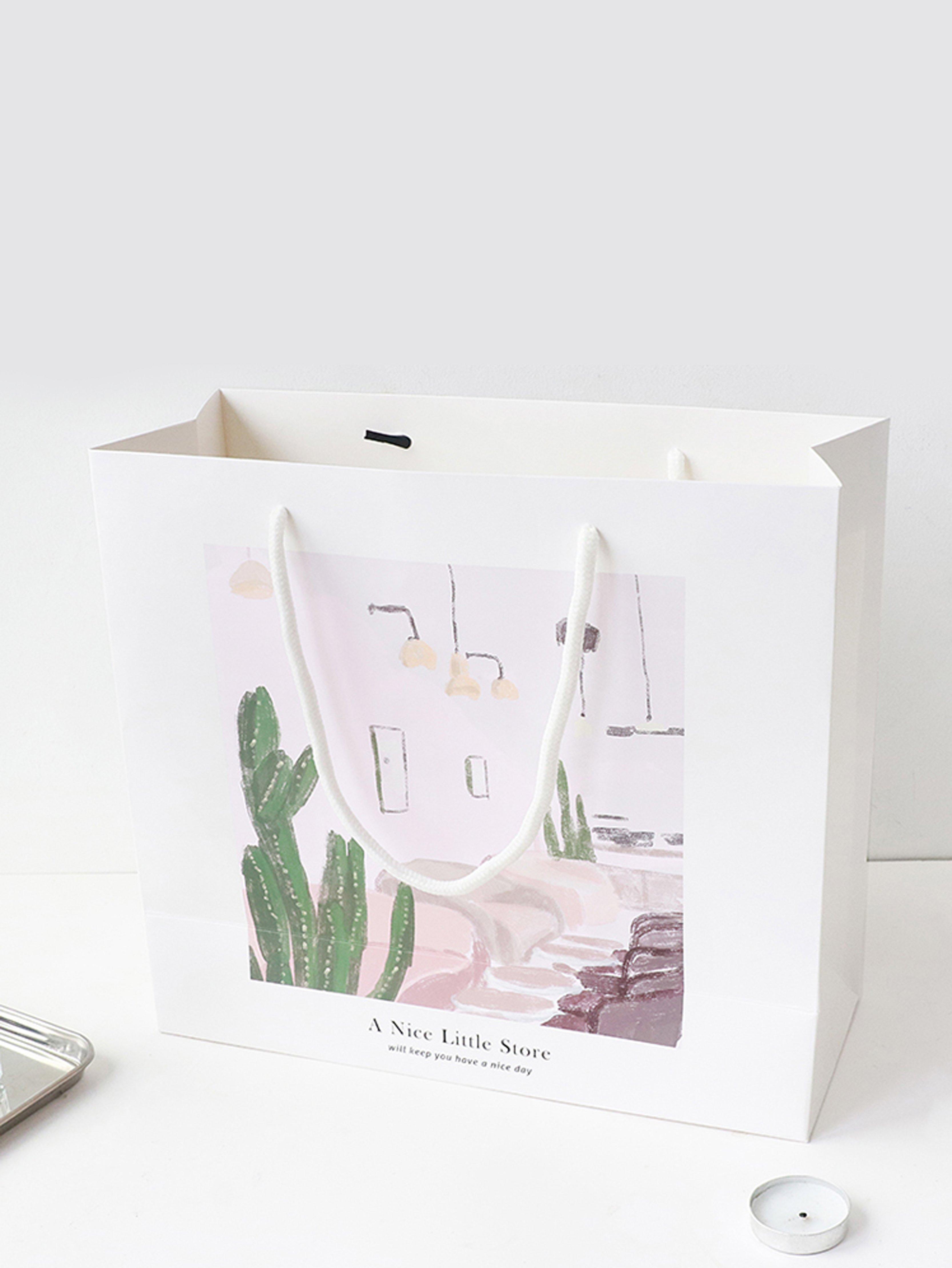 Cactus Pattern Paper Bag