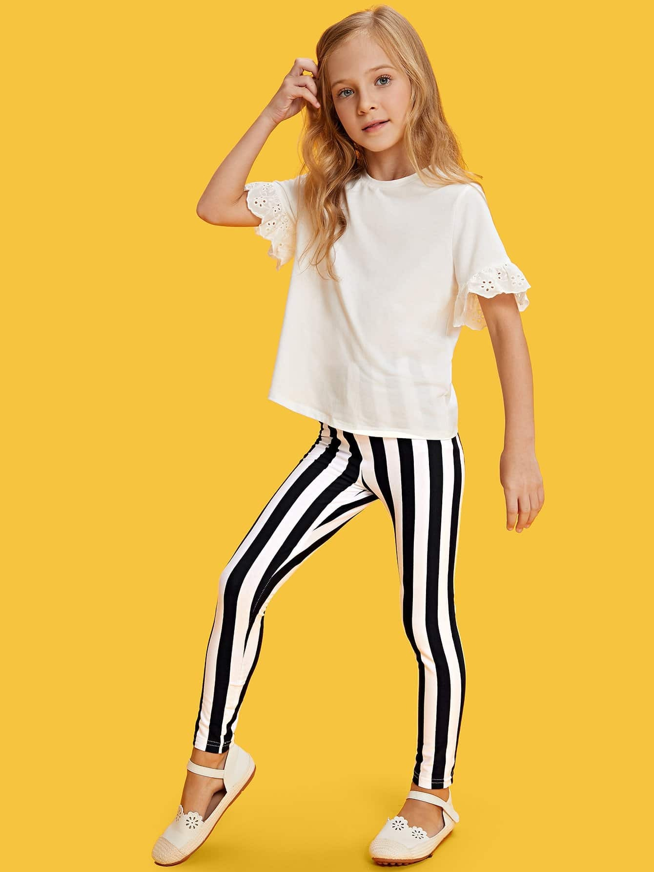 Elastic Waist Striped Pants kids elastic waist striped pants