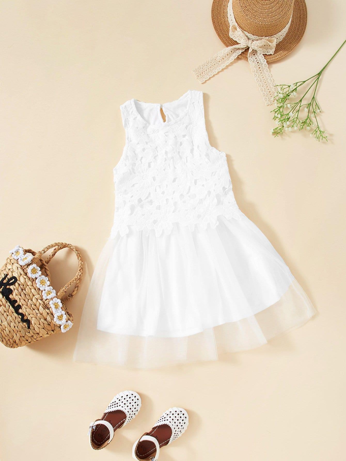 Купить Прозрачное платье с вырезами и кружевами, null, SheIn