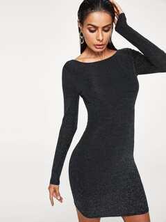 Form Fitting Glitter Dress