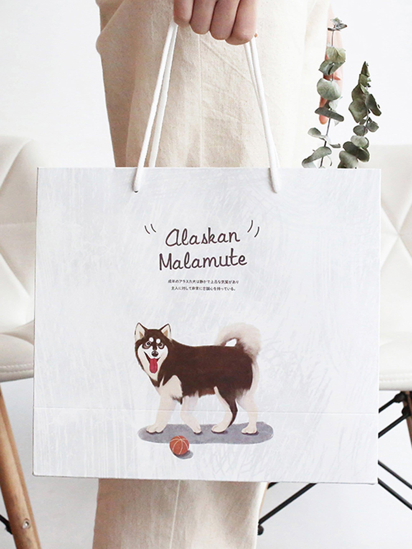 Dog Print Paper Bag
