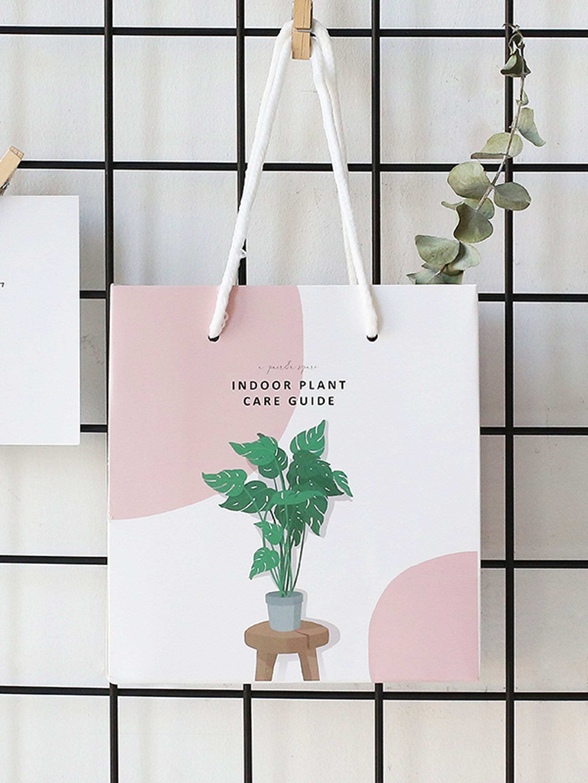 Tropical Plant Print Paper Bag