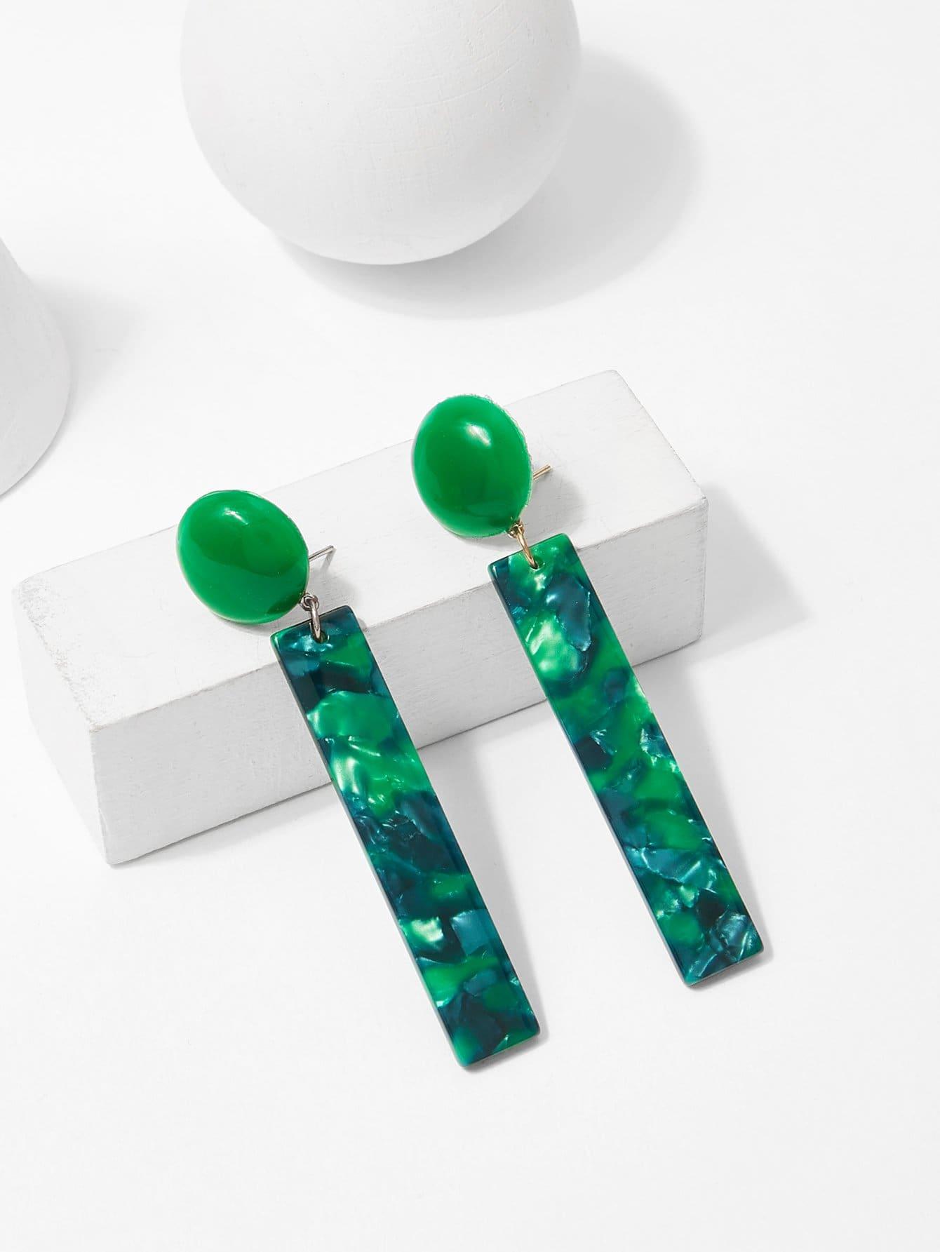 Textured Bar Drop Earrings silver plated bar dangle drop earrings