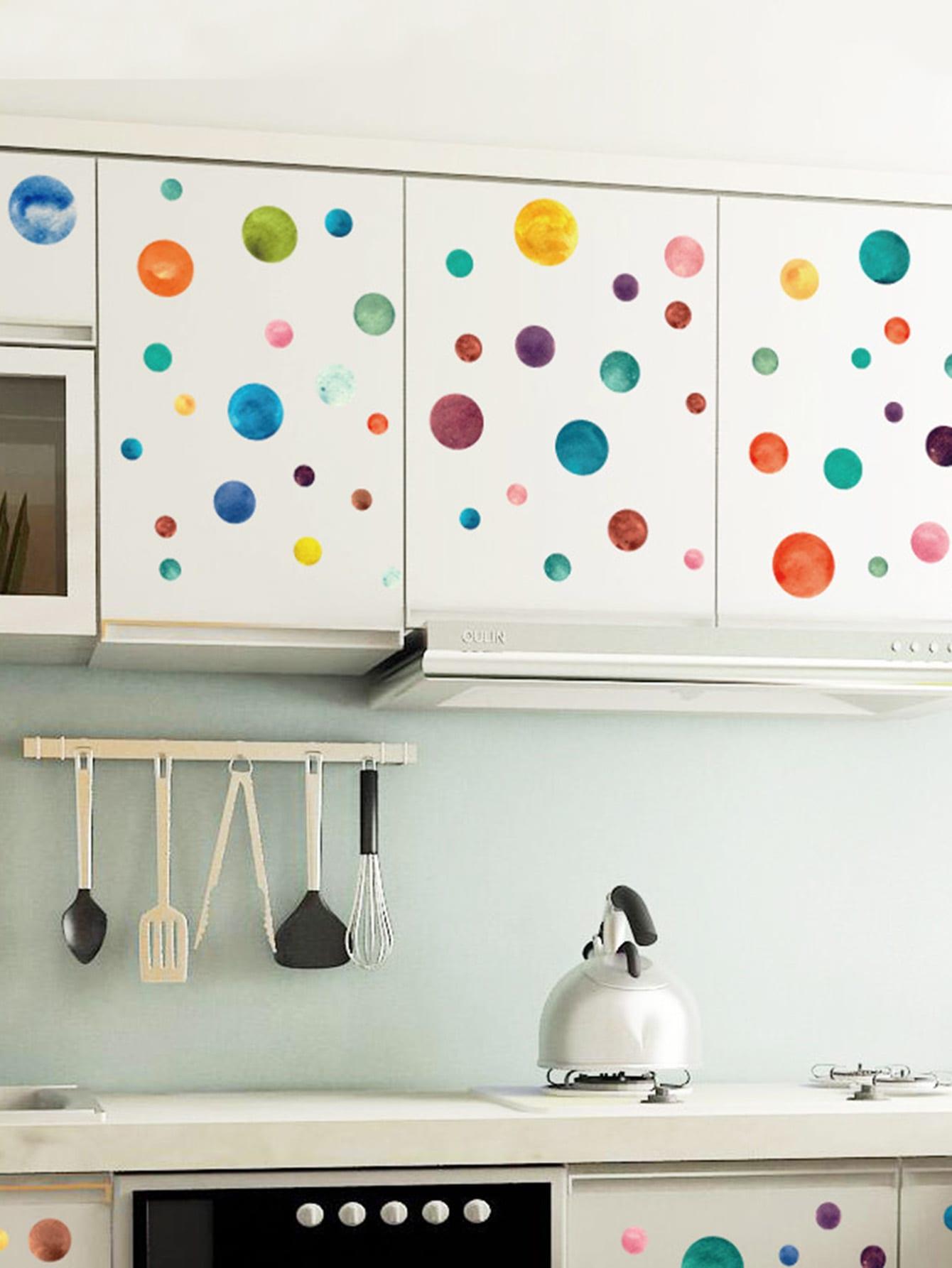 Geometric Colorful Wall Sticker globo 58387