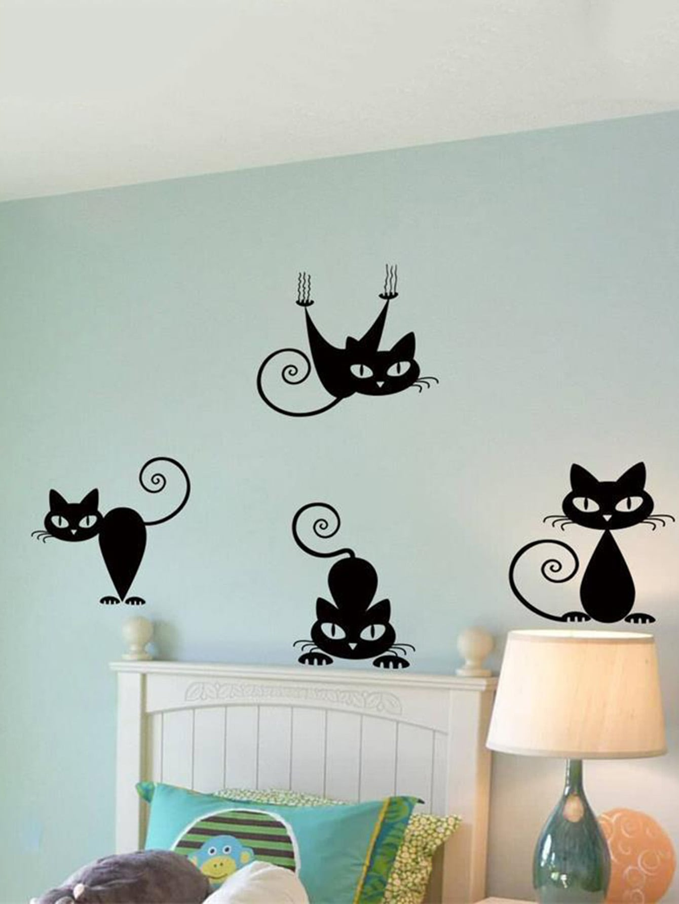 Cat Decor Wall Sticker couple cat wall sticker
