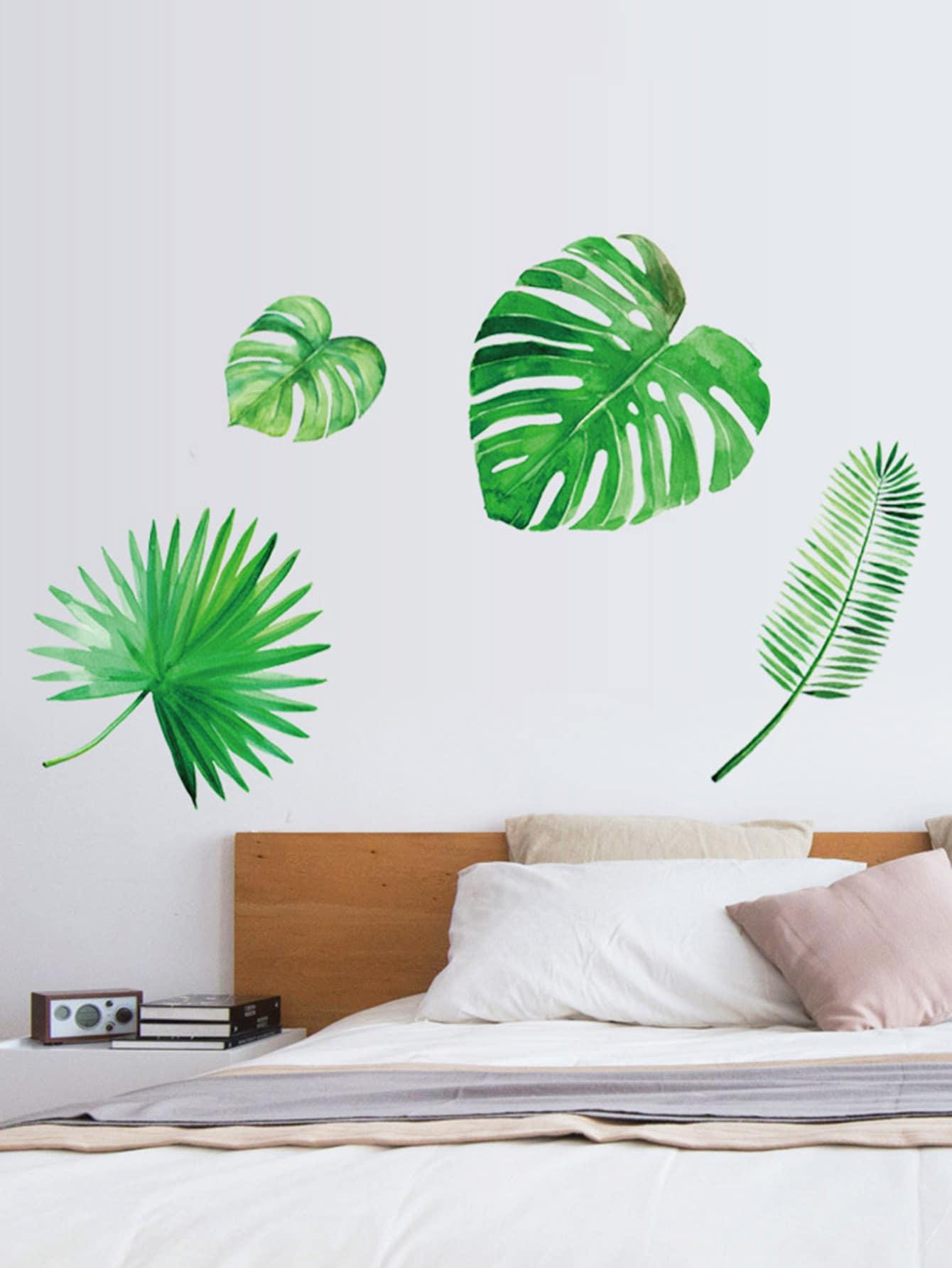 Leaf Wall Sticker ginkgo leaf print wall art sticker