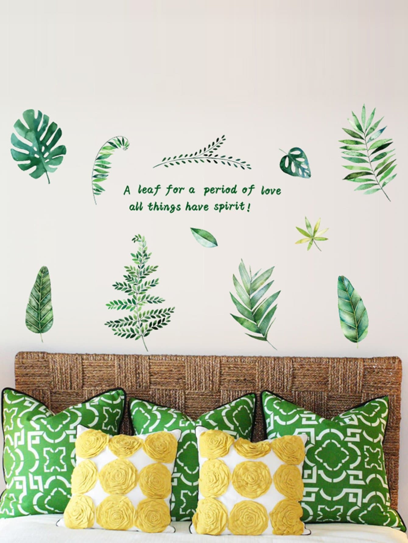 Tropical Leaf Wall Sticker tropical leaves wall sticker