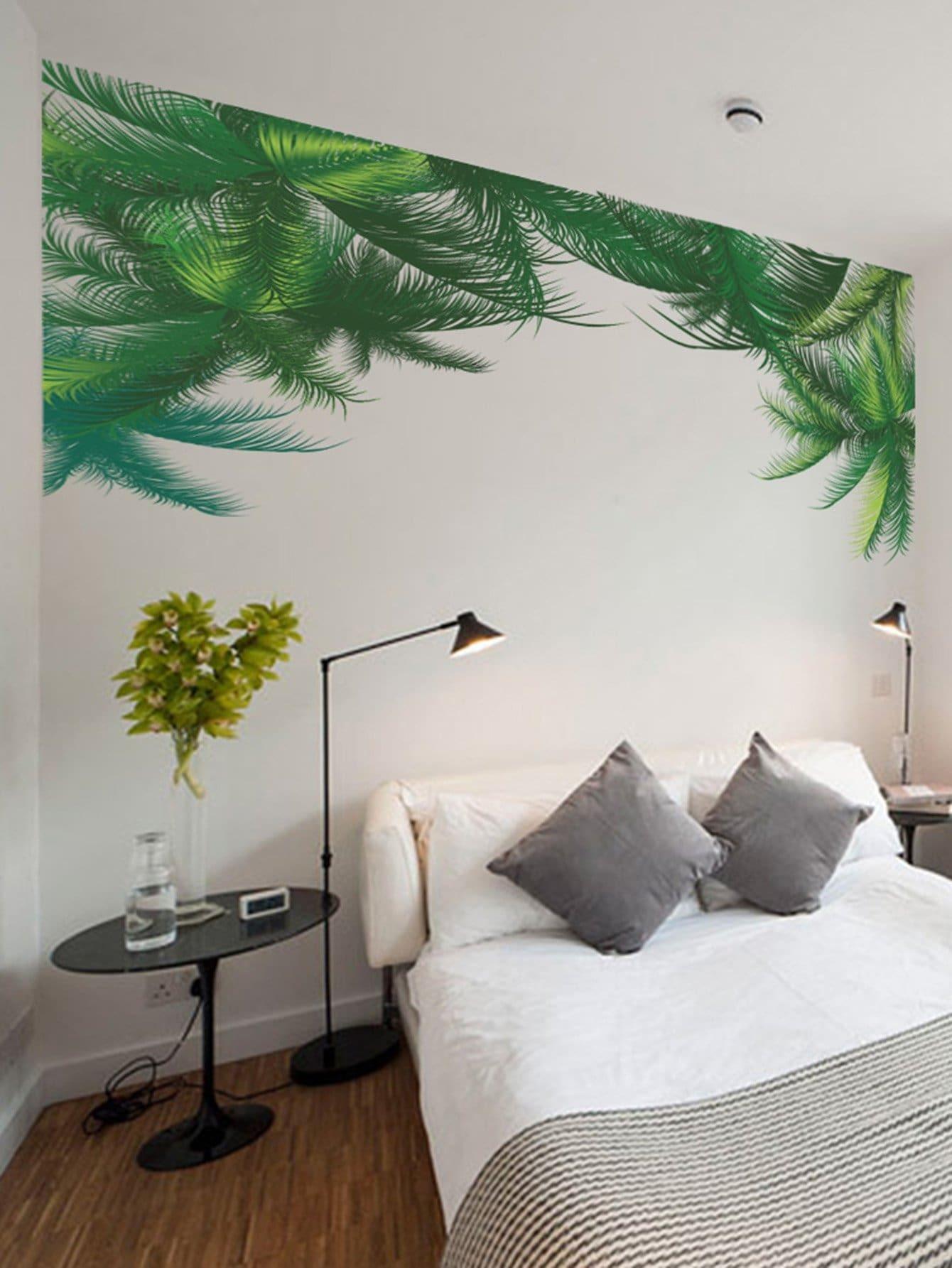Palm Leaf Wall Sticker ginkgo leaf print wall art sticker