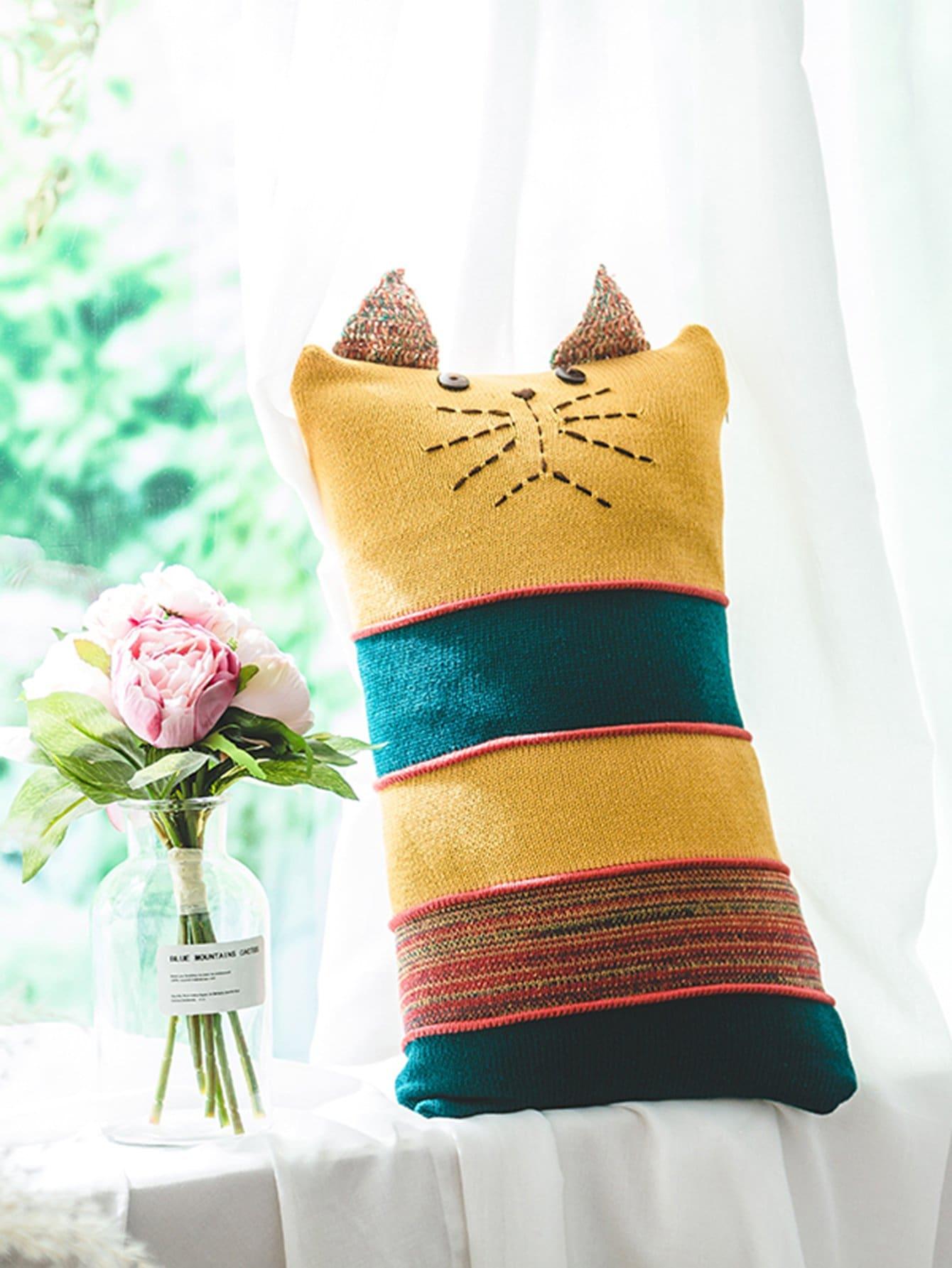 Block Stripe Knit Pillow Case