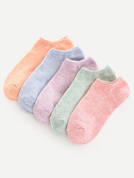Plain Ankle Socks 5pairs