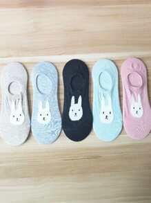 Rabbit Invisible Socks 5pairs