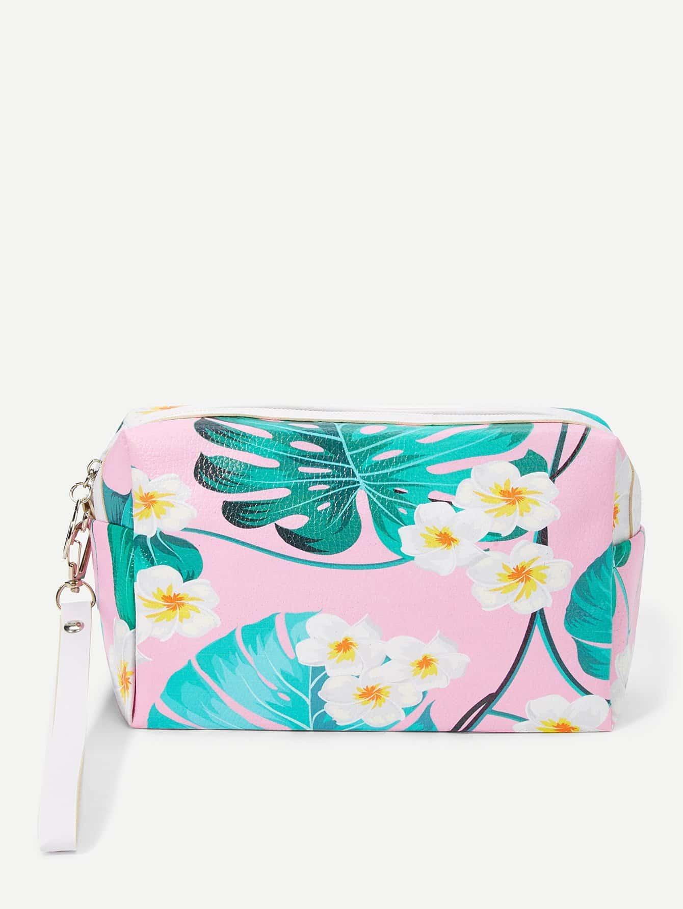 Flower Print Makeup Bag makeup organizer travel bag women cosmetic bags summer dumpling clutch women packages waterproof cosmetic bag handbag
