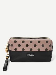 Dot Print Makeup Bag
