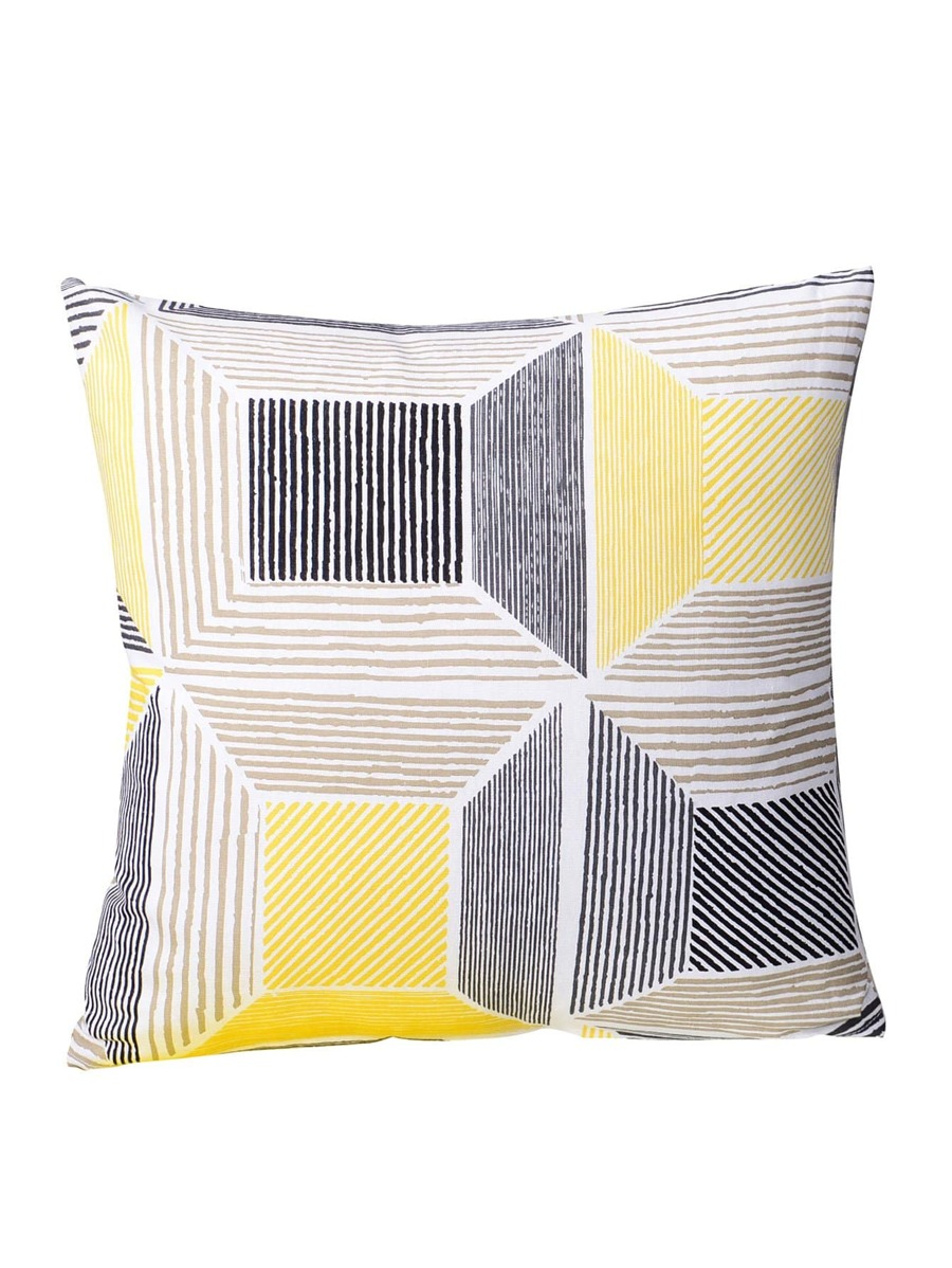 Geometric & Striped Pillowcase Cover 1 Pc by Sheinside