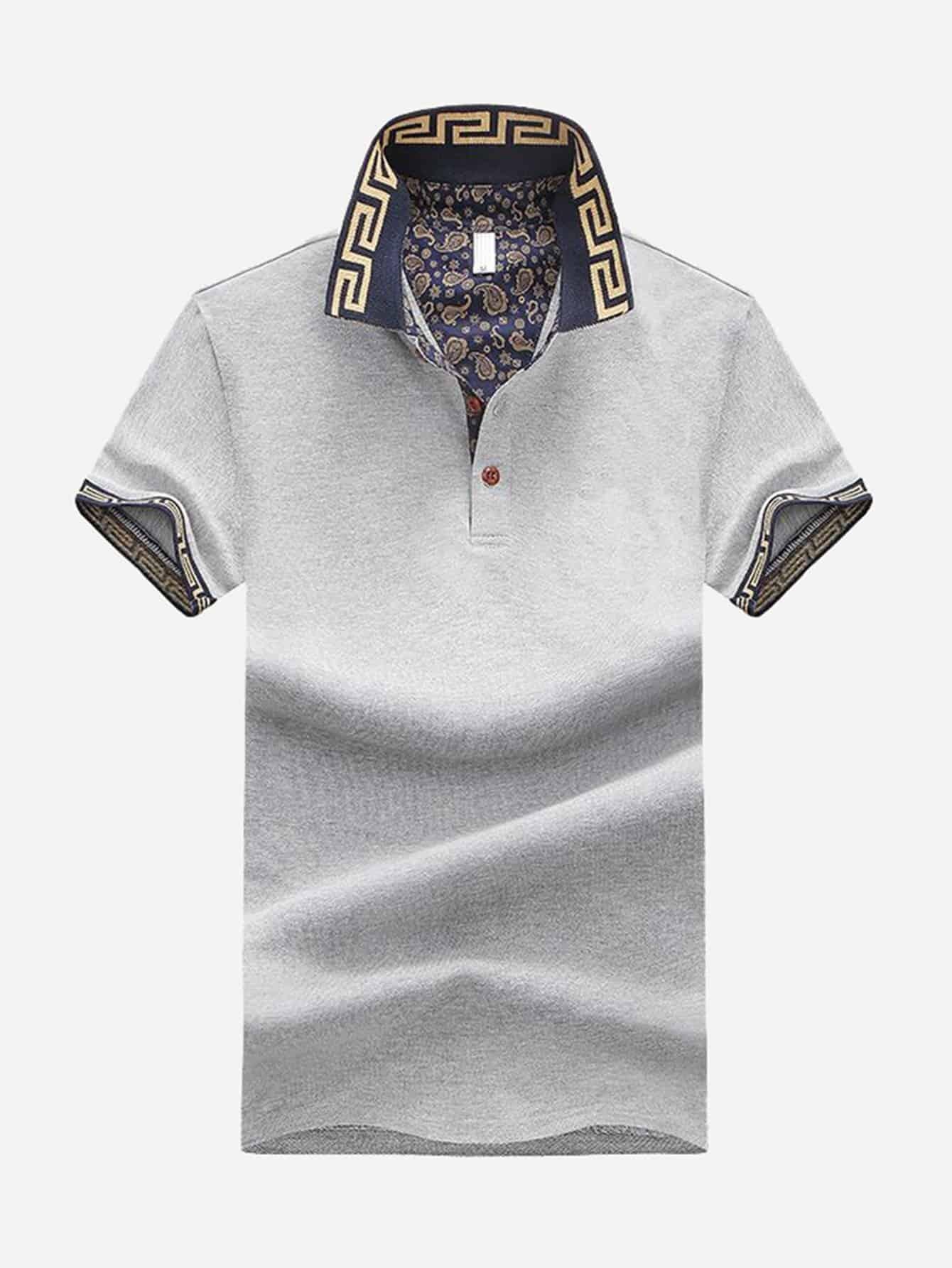 Мужская толстая рубашка поло, null, SheIn  - купить со скидкой