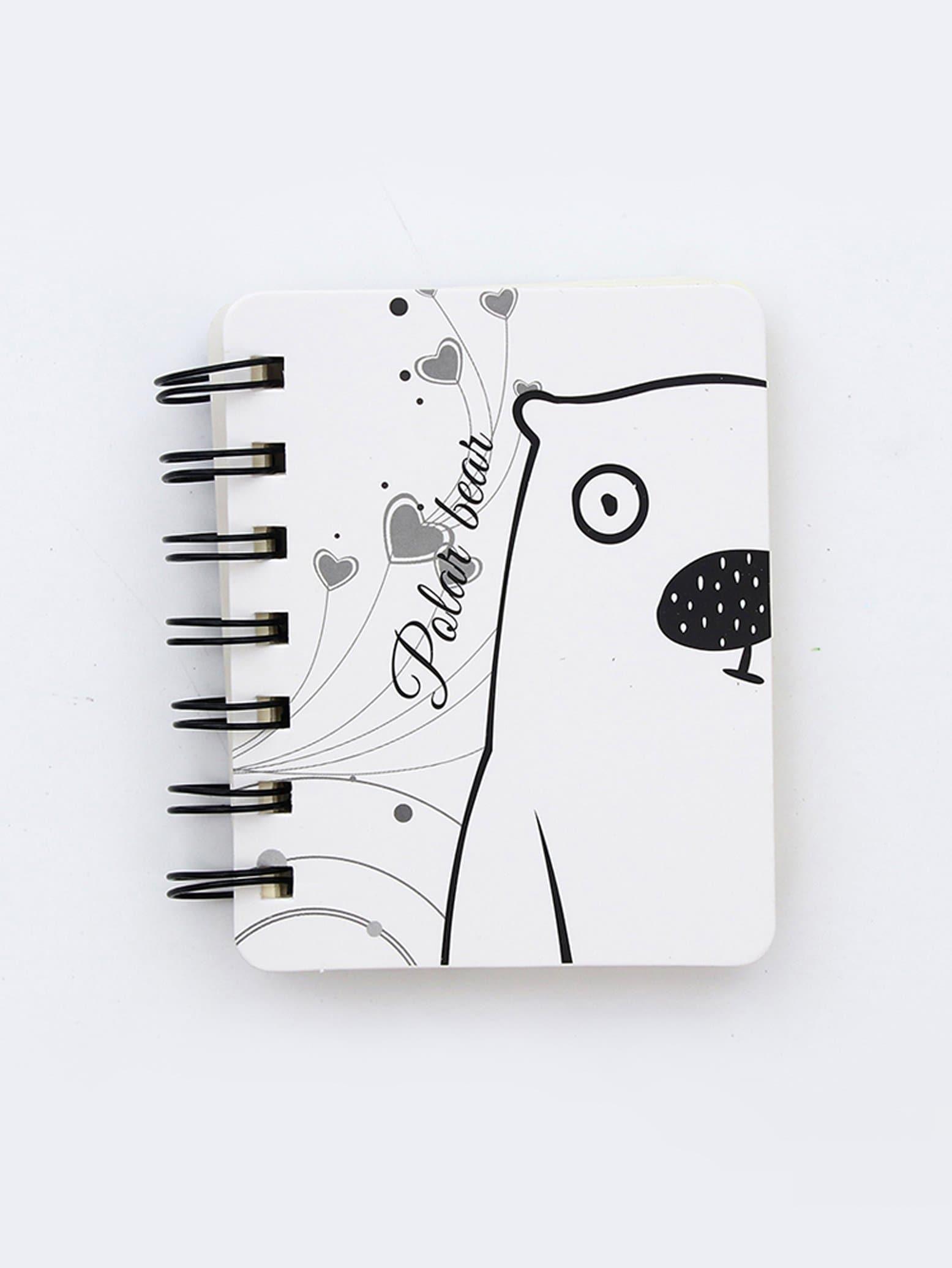 Polar Bear Cover Spiral Notebook 80sheets