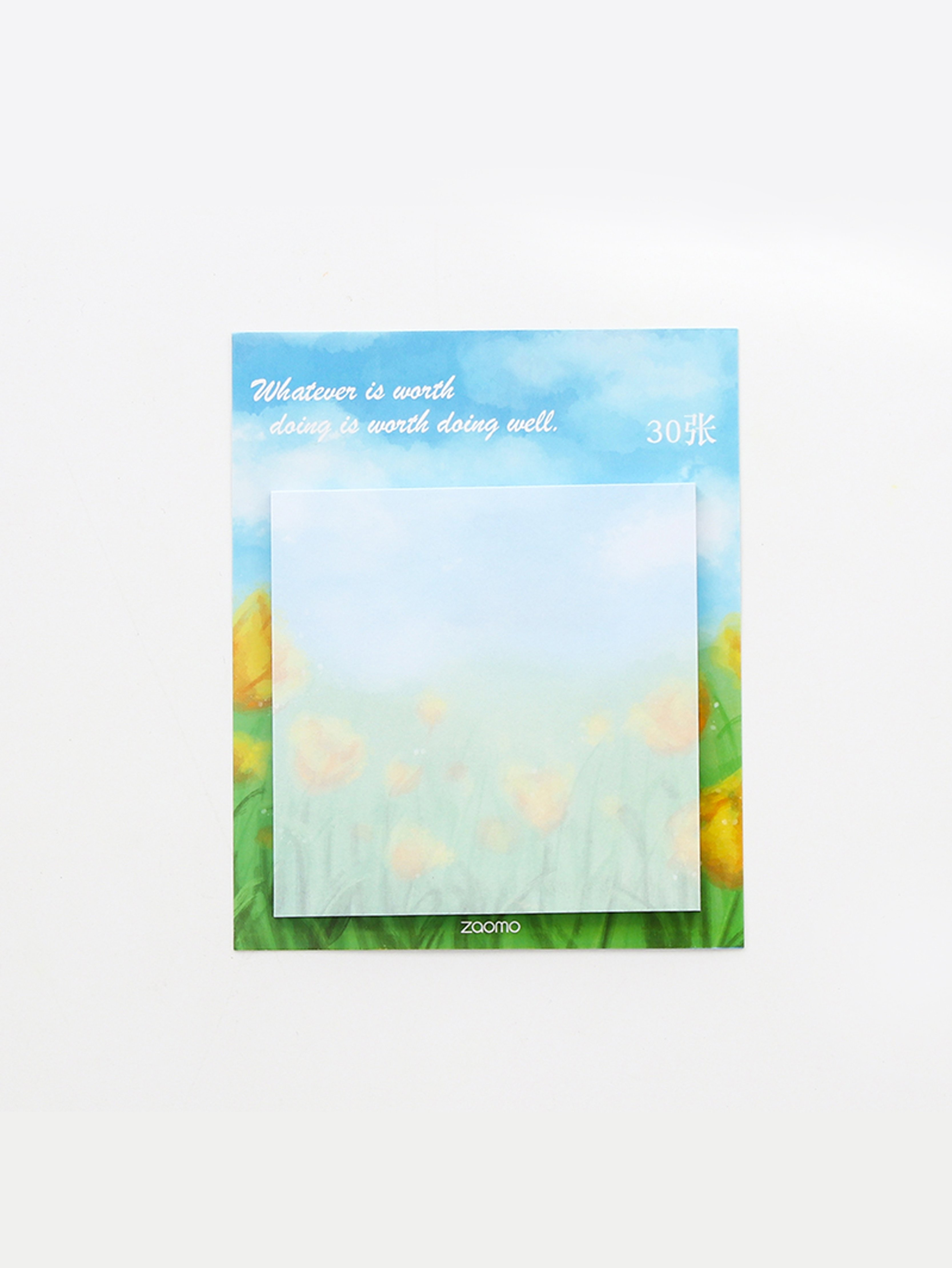 Flower Print Sticky Memo Pad 30sheets never plants series sticky notes sets notepad memo pad flamingo ball pen stationery kits fashion office and school supplies