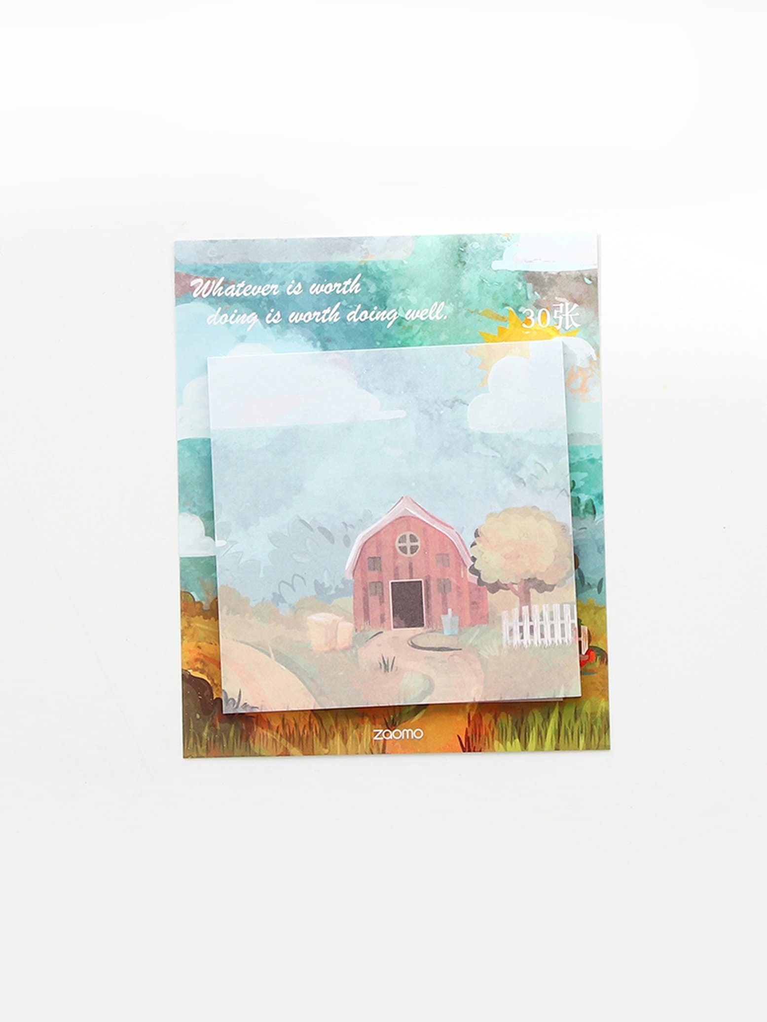 Wooden House Print Sticky Memo Pad 30sheets spray print sticky memo pad 30sheets