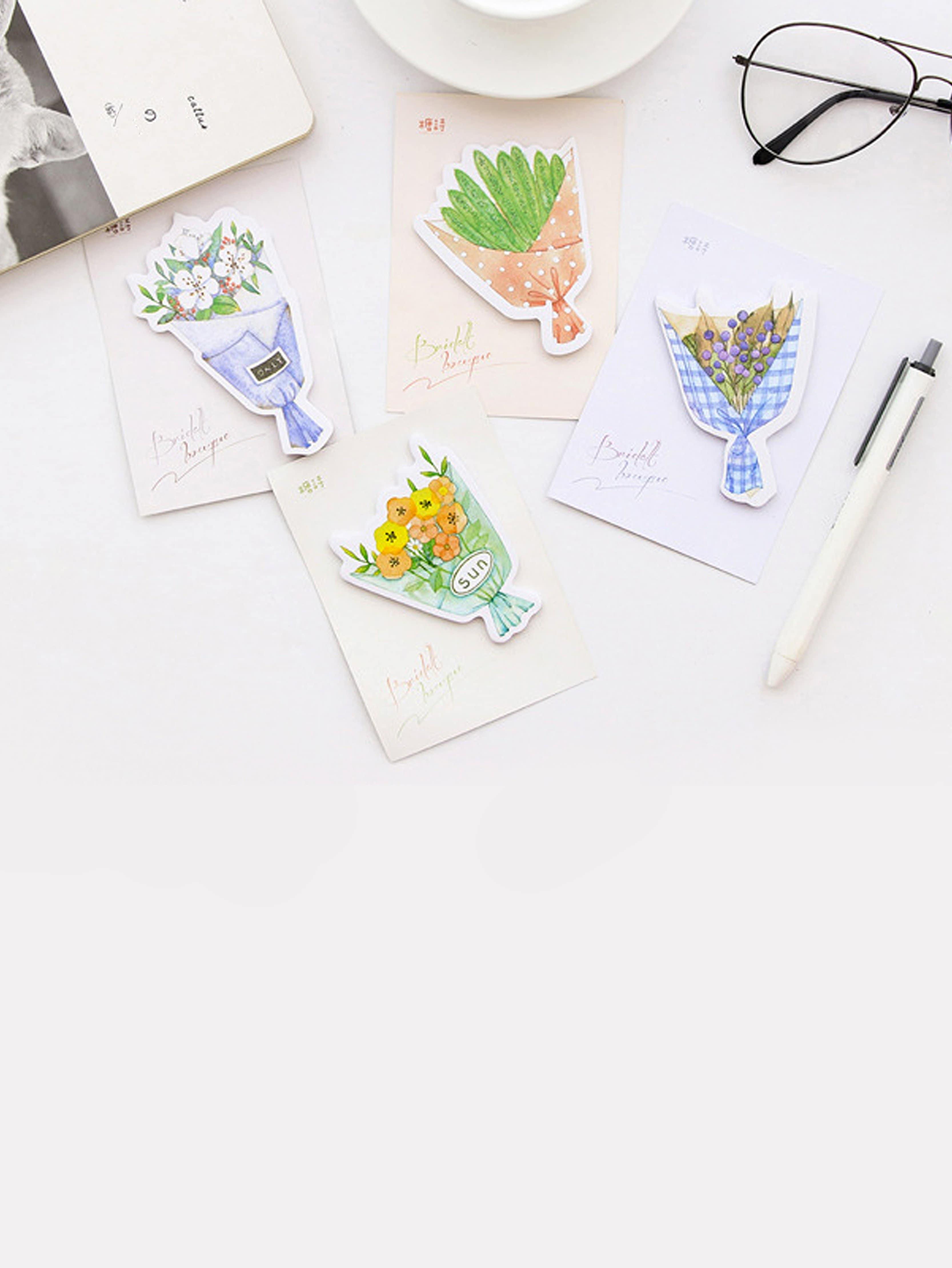 Random Bouquet Shaped Memo Pad 30sheets