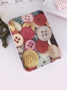 Button Print Tin Box