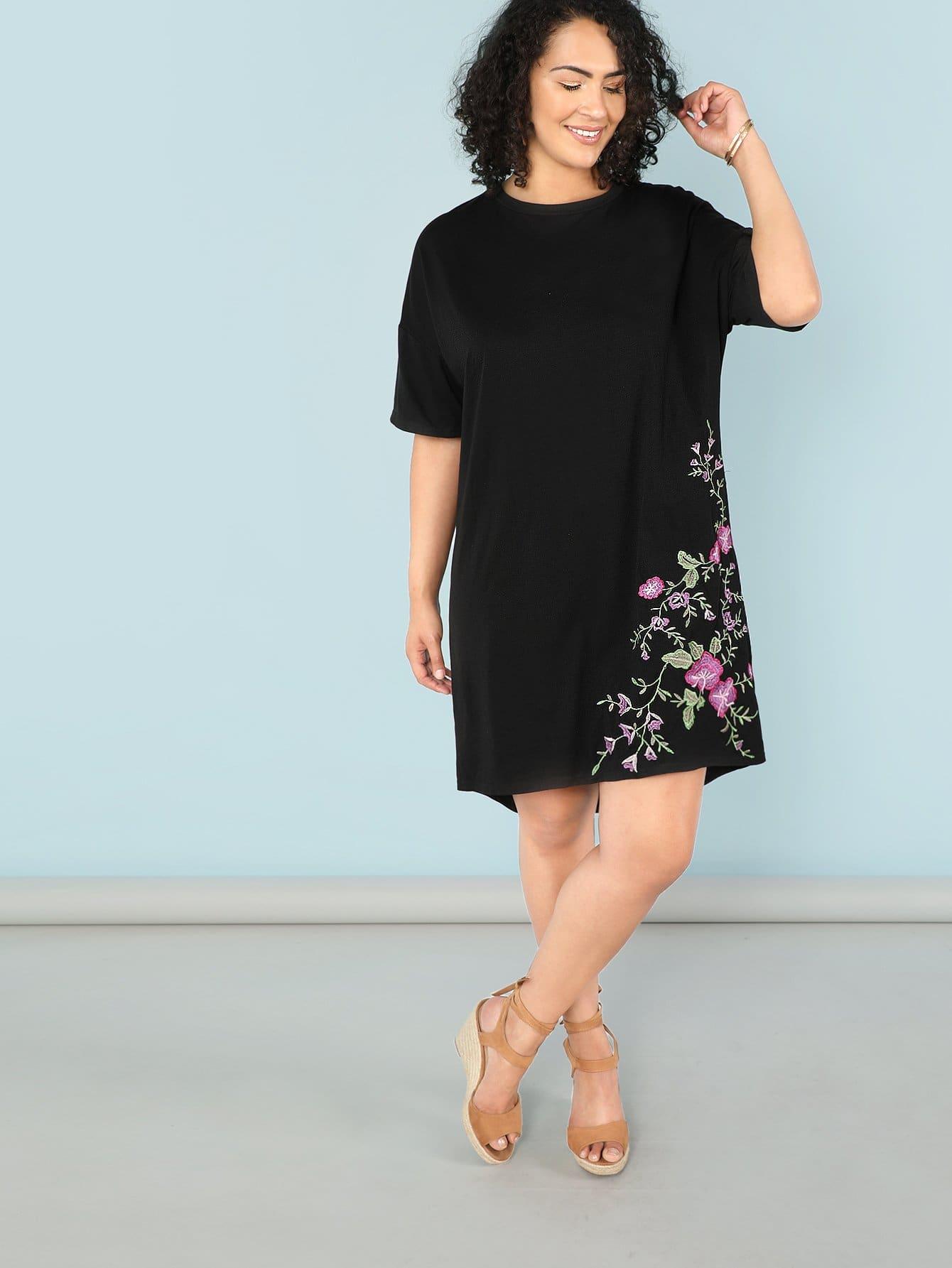Купить Платье из цветочной туники, Brianna Ruiz, SheIn
