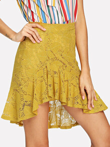 Ruffle Hen Lace Skirt