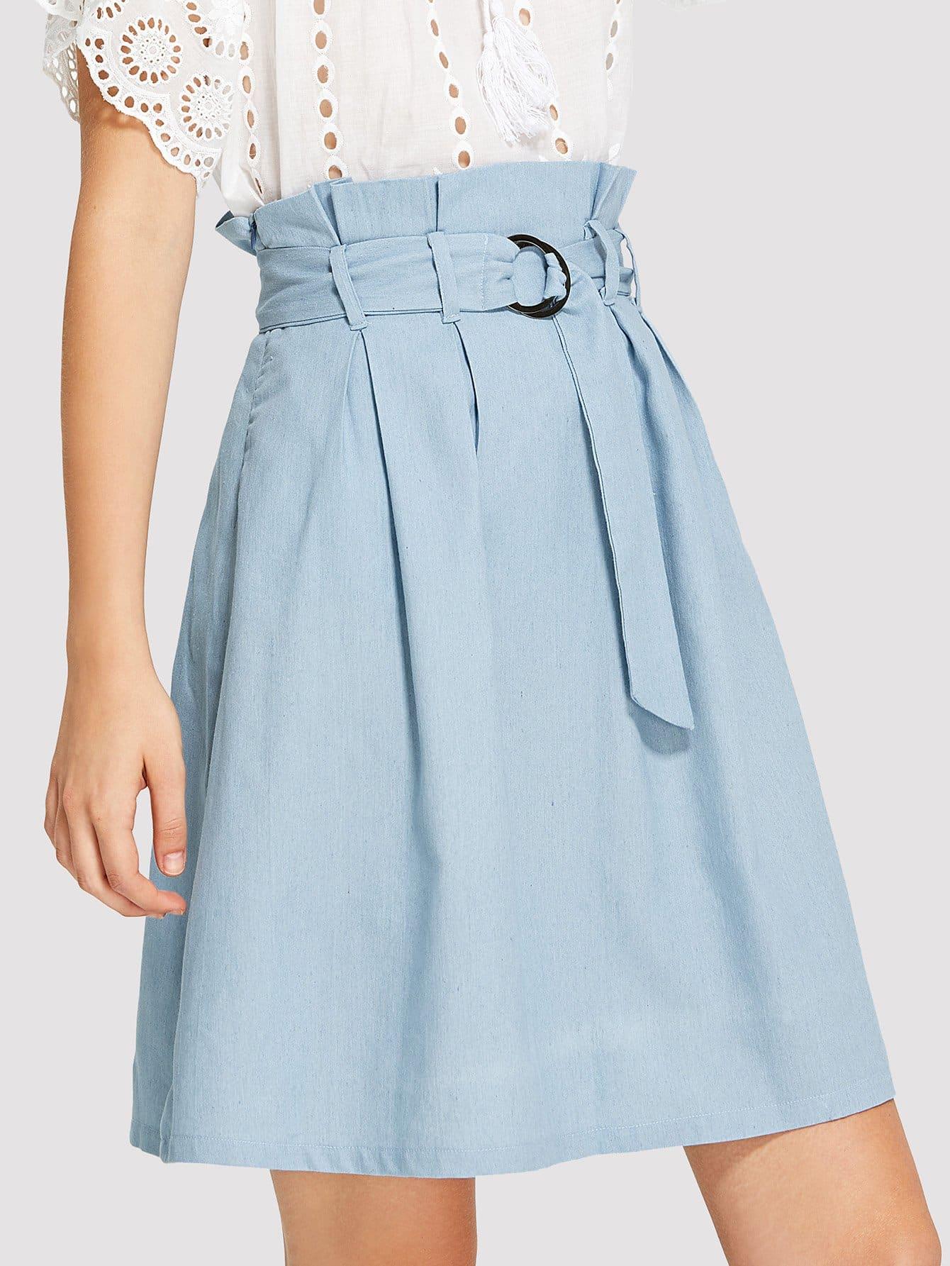 Self Tie Waist Skirt