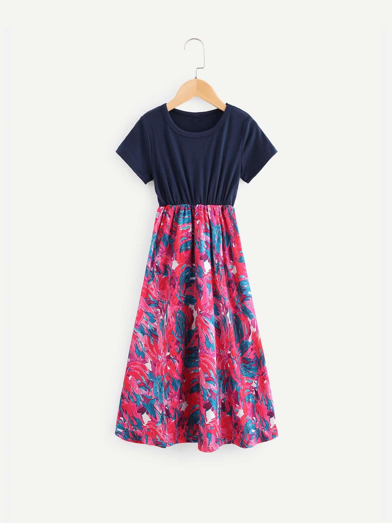 Купить Платье для печати кистей для детей, null, SheIn